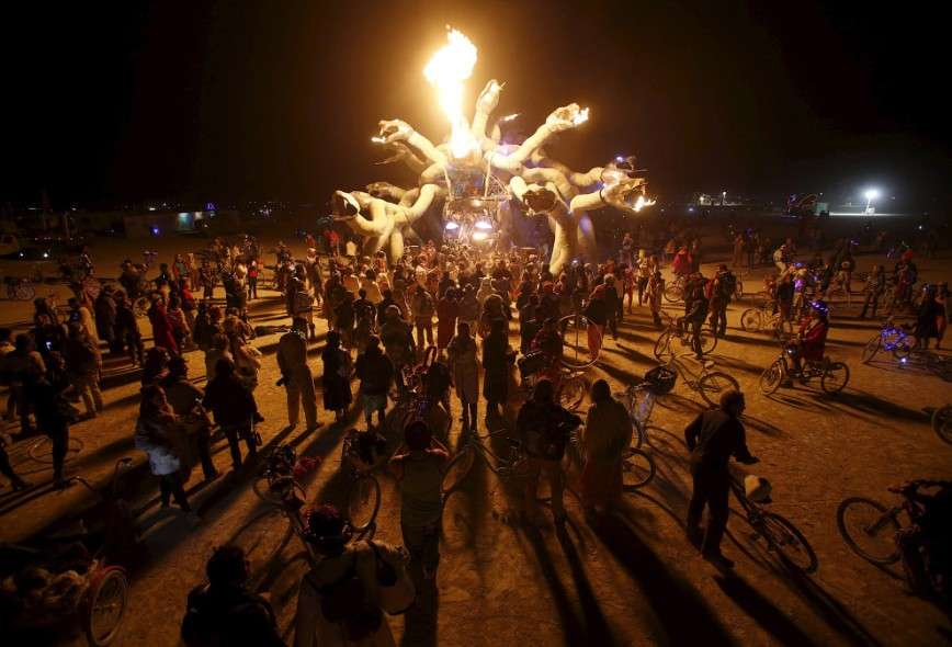 Фестиваль «Горящий человек 2015» в Неваде
