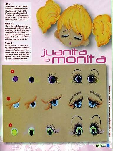 Глаза текстильной куклы