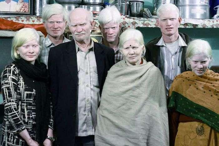 Самая большая семья альбиносов