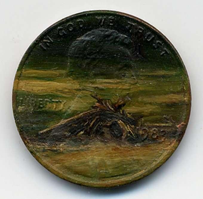 Маленькие монетки в роли холста