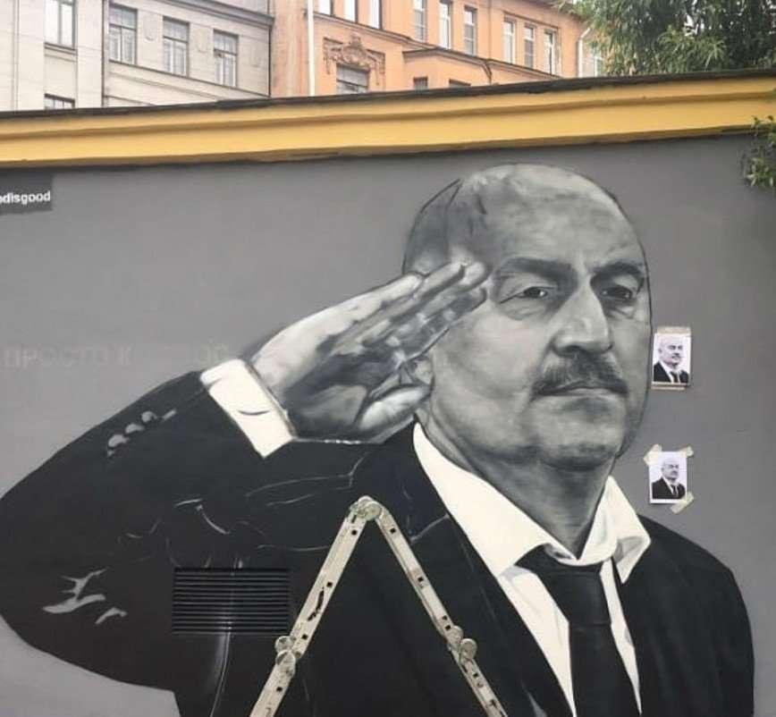 Столицу украсят граффити с изображением Черчесова, Дзюбы и Акинфеева