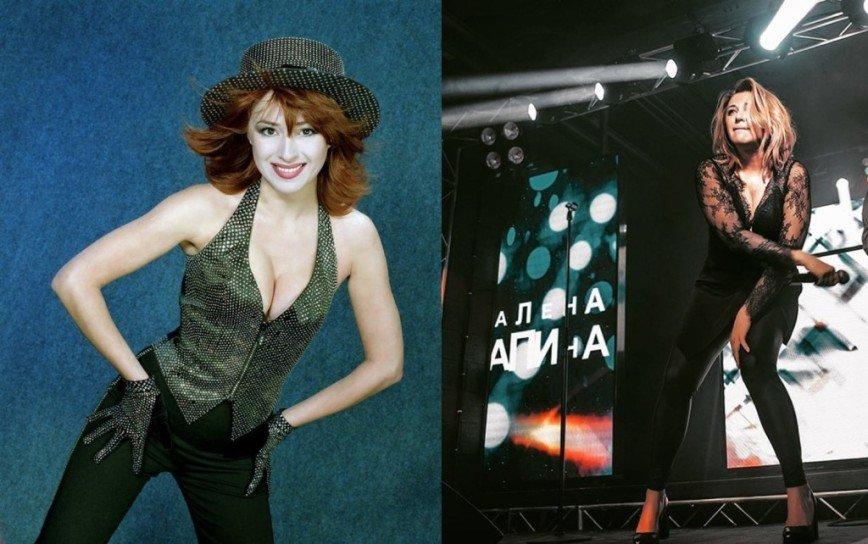 54-летняя Алена Апина показала откровенную фотосессию в латексном костюме